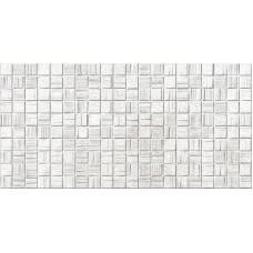 Настенная плитка Мегаполис светло-серая мозаика 25х50