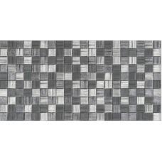 Настенная плитка Мегаполис темно-серая мозаика 25х50