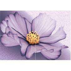 Панно плитка  Виола D из 4-х плиток рельеф 28х40 AXIMA