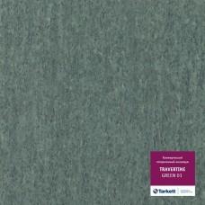 Коммерческий гетерогенный пвх линолеум Travertine Pro Pro Green 01