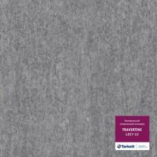 Коммерческий гетерогенный пвх линолеум Travertine Pro Pro Grey 02