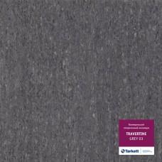 Коммерческий гетерогенный пвх линолеум Travertine Pro Pro Grey 03