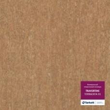 Коммерческий гетерогенный пвх линолеум Travertine Pro Pro Terracotta 01