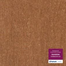 Коммерческий гетерогенный пвх линолеум Travertine Pro Pro Terracotta 02