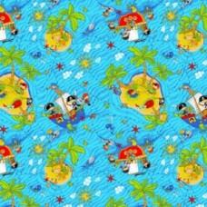 Ковролин Нева Тафт Детская коллекция велюр Острова 500
